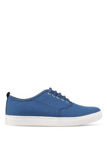 JAXON blue Canvas Casual Sneakers 7BB5FSH50FEC00GS_1