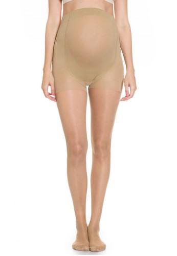 MOOIMOM beige MOOIMOM Maternity Stocking Tights 8 Denier Stocking Ibu Hamil - Nude MO368AA0UG38ID_1