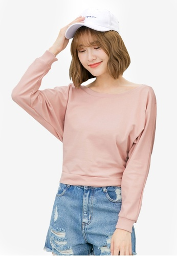 Tokichoi pink Basic Long Sleeve Sweatshirt with Ribbon Detail 20C40AA69F26D7GS_1