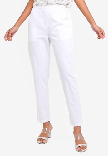 ZALORA BASICS white Basic Cigarette Pants E4B7AAA87765C4GS_1