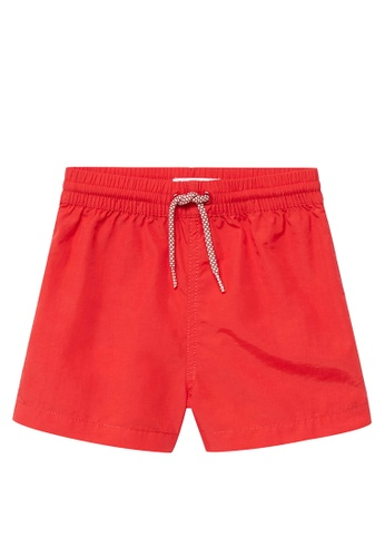 MANGO BABY red Basic Swimming Trunks 44B1BKAA0A6A01GS_1