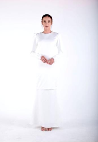 LUNA Kurung from Meraki Atelier in White