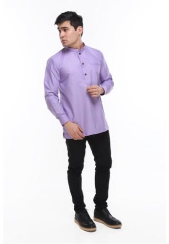 Amar Amran purple Kurta Al Hazim 2.0 D3F6FAAFDA6533GS_1