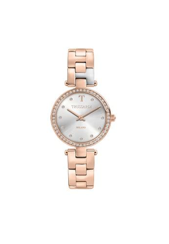 Trussardi gold T-Sparkling Quartz Watch Rose Gold Steel Strap R2453139504 55021AC048B0C6GS_1