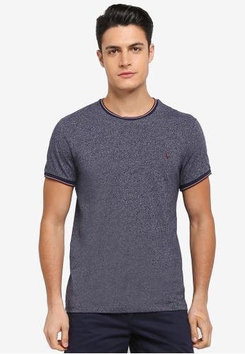 Jack Wills navy Baildon Ringer T-shirt 9847DAAE6C92EFGS_1