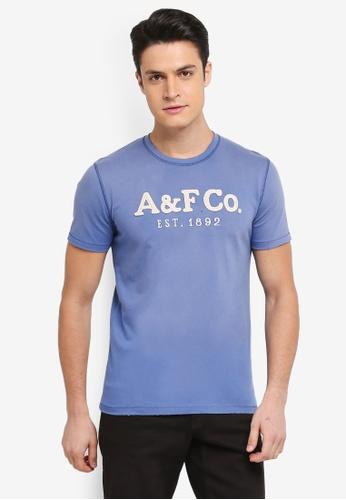 Abercrombie & Fitch blue Brand Logo T-Shirt 0DCAFAA27EFAA0GS_1