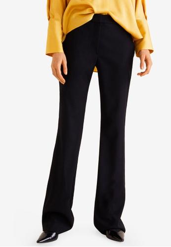 Mango black Flared Trousers 1D09BAA8F7D644GS_1