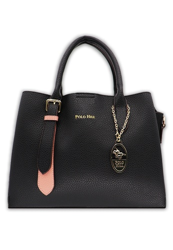 Polo Hill black Medium Sized Top Handle Handbag Black 5F0CBACBED7427GS_1