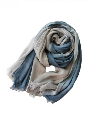 HAPPY FRIDAYS Cotton Yarn Mix Color Tie Dye Scarf JW JS-1100 7BF7BAC038DBE1GS_1