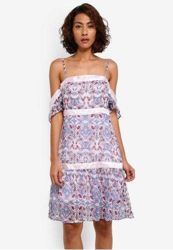 Vero Moda purple Meternal Off Shoulder Mini Dress VE975AA0T0DSMY_1