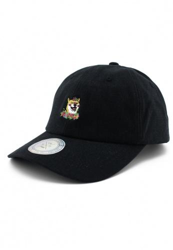 DOSSCAPS black PREMIER Flower Hachi Baseball Cap (Black) 040E3AC53EAF93GS_1