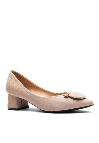 Twenty Eight Shoes 米褐色 4.5CM 尖頭仿皮低踭鞋999-57 ABB5FSHFDFEA03GS_1