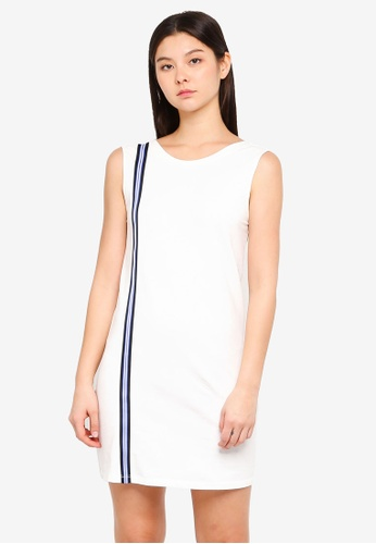 Something Borrowed white Stripe Trim Tank Dress 134DCAAF29A24AGS_1