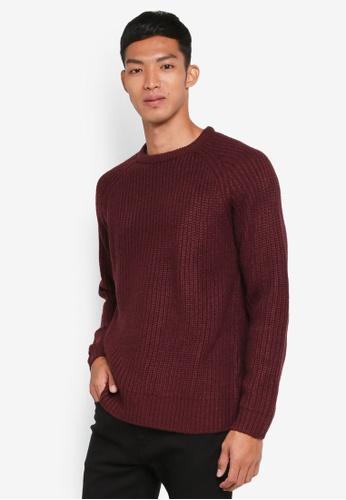 Factorie 紅色 長袖針織衫 6D7F0AAD49D273GS_1