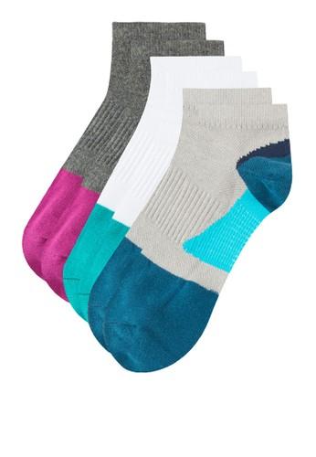 三入色塊運動襪子, 服飾, zalora taiwan 時尚購物網慢跑