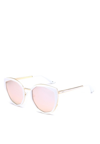 Privé Revaux white and gold The Artist Sunglasses PR660GL0RC2IMY_1