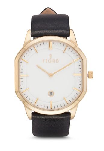STesprit門市EIN 雙指針皮革錶, 錶類, 飾品配件