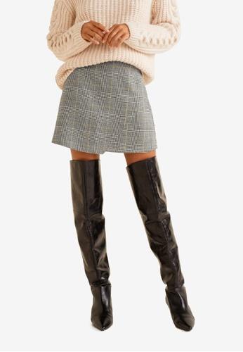 Mango black Houndstooth Skirt 525FCAAECDAD9DGS_1