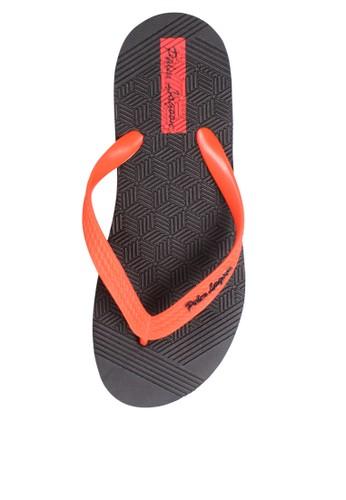 Palm Lagoon black Sandals & flip flop Carve Geometric Red 89CBASH9F59496GS_1