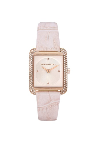 BCBG pink BCBGMAXAZRIA BG50908002 Rose Gold and Pink Leather Watch 31E84AC4C58297GS_1