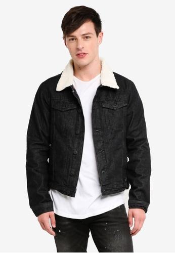 Indicode Jeans 黑色 刷毛牛仔外套 30EE1AAB7C8237GS_1
