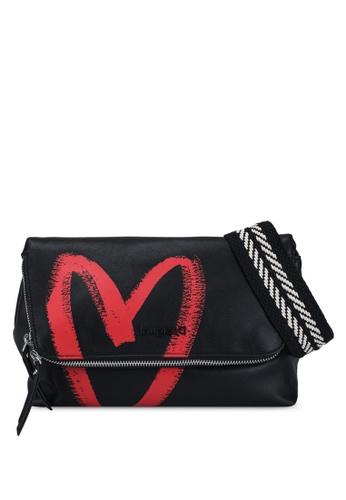 Desigual black Extensible Flap Sling Bag 31237AC85DF37CGS_1