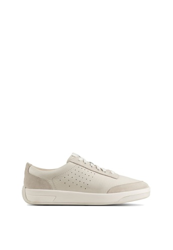 Clarks Clarks Hero Air Lace White Leather Womens Sport Shoes AA2D5SH7F0E060GS_1