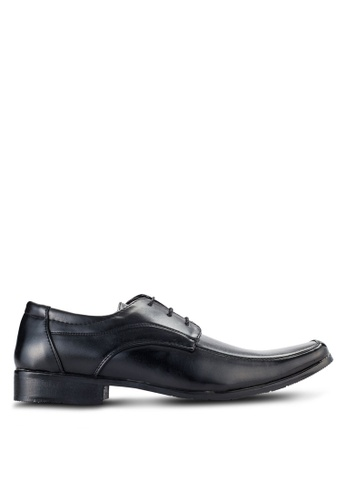 UniqTee black Lace Up Dress Shoes UN097SH99NQAMY_1
