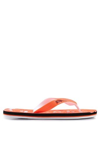 Superdry 橘色 Scuba 雕紋拖鞋 77806SH021E8B0GS_1