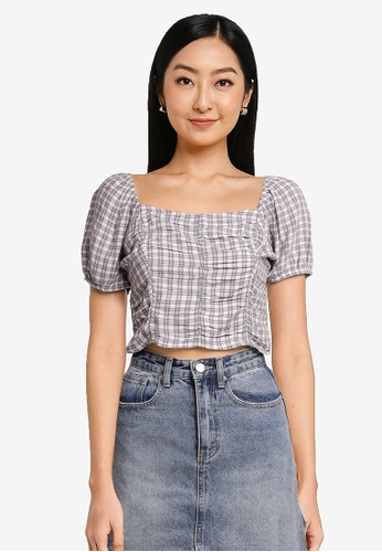 Hollister white Vertical Ruched Top 2D904AAB0AA540GS_1
