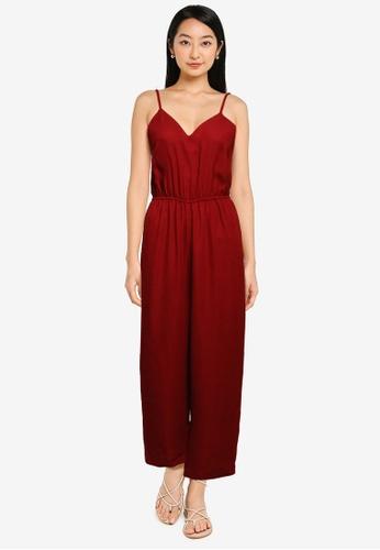 ZALORA BASICS red Cami Jumpsuit FDD7FAA1A5B0F2GS_1