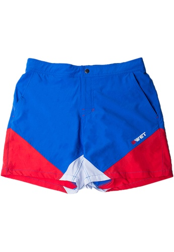 """BWET Swimwear blue Eco-Friendly Quick dry UV protection Perfect fit Blue Beach Shorts """"Butterfly"""" Side pockets and back zipper pocket DE537US82E735DGS_1"""
