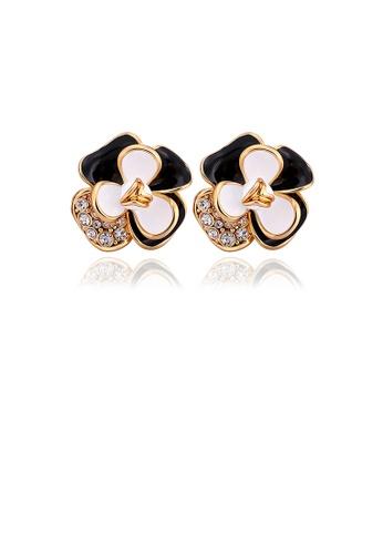 Glamorousky white Gold Plated Elegant Fashion Romantic Sweet Flower Earrings Ear Studs 79DC3ACD82937DGS_1