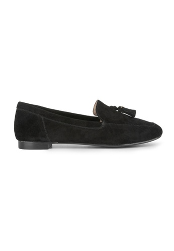 MAUD FRIZON black Kid Suede Unlined Loafer With Tassels D6E62SH2AD3FD8GS_1