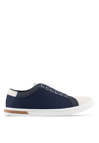 ZALORA navy Mix Material Sneakers 2BEE8SHDC59B6CGS_1