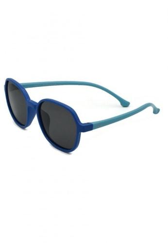 jojo blue Square Slim Temple Polarized Sunglasses CE7D3KC033D788GS_1