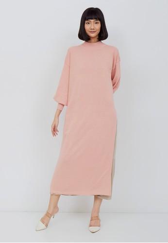 Kimora Kei pink Kimora Kei Baju Wanita Chika Turtle Neck Dress Dusty Pink BDDE5AA7E4E48CGS_1