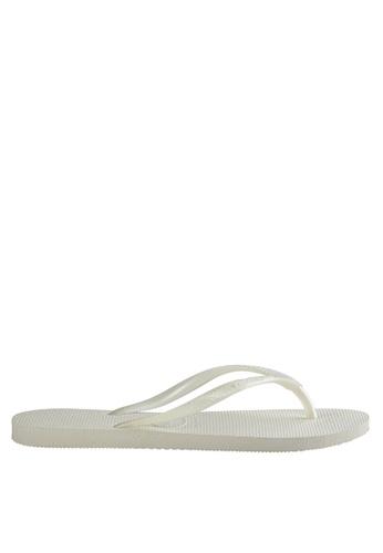 Havaianas white Slim Flip Flops BD923SHB47EA70GS_1