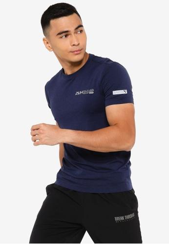 361° blue Running Series Short Sleeve T-shirt 1612CAA717DC04GS_1