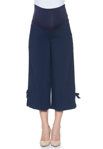 Mayarya navy Ribbon Maternity Cropped Pants 0B84CAA5A9C754GS_1