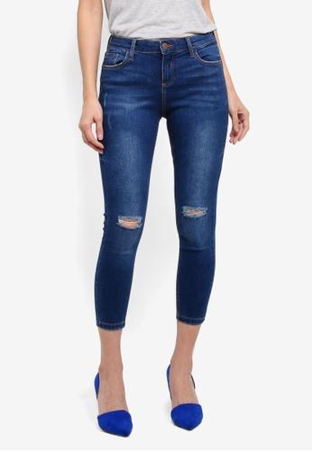 Dorothy Perkins blue Petite Indigo 'Darcy' Jeans E3A6FAACB7AD70GS_1