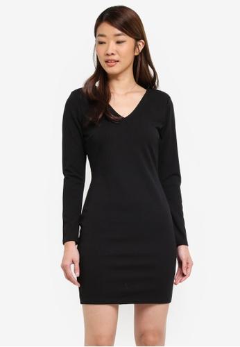 Dorothy Perkins black Black Shoulder Pad Mini Dress 60661AA6D6C238GS_1