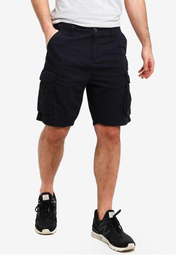 Brave Soul navy Canvas Shorts 7D428AA6207572GS_1