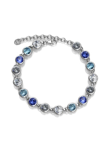 Her Jewellery silver Her Jewellery Colorful Bracelet (Blue) with Premium Grade Crystals from Austria 0E8C7AC6147787GS_1