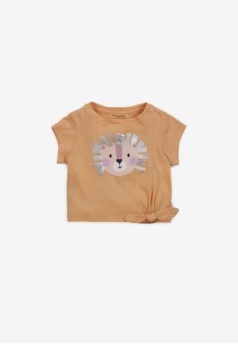 Gingersnaps yellow Baby Girls Lion Print T-Shirt 78AE6KA6753D79GS_1