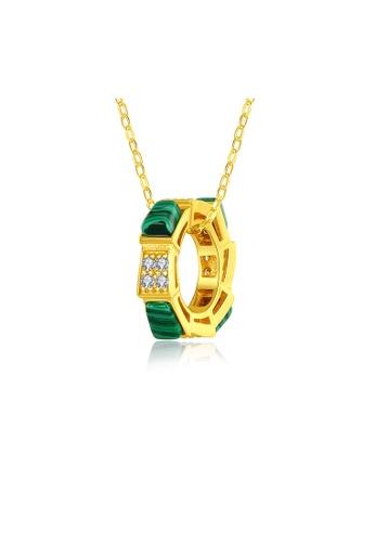 SUNRAIS gold Premium colored stone gold simple design necklace 9549BAC8DBB9C2GS_1