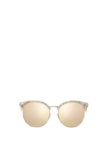Carin pink and multi and gold Ronen C2 Sunglasses 4B832GLB1083DAGS_1
