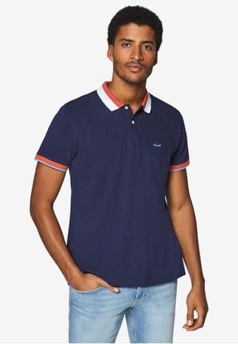 ESPRIT 海軍藍色 Short Sleeve Pique Polo Shirt D04F4AA3C01C33GS_1