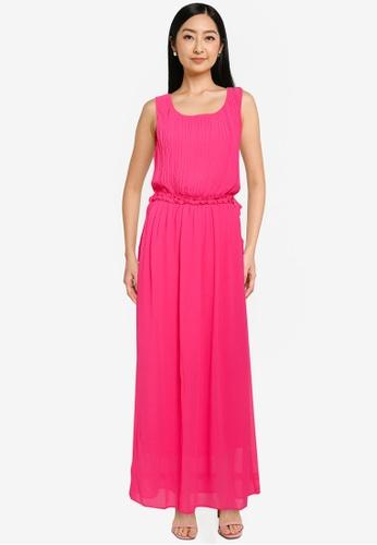 JACQUELINE DE YONG 粉紅色 無袖 長洋裝 7DDC8AA9C0C463GS_1