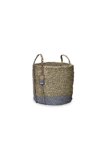 HOUZE ecoHOUZE Seagrass Storage Basket With Handles - Grey (Small) 5D26DHLFB9A339GS_1